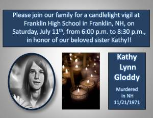 Flyer For Kathy's Vigil, July 11th 2009